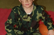Soldier boy at the Halloween fancy dress special.90