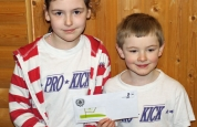 Brother and sister win a prize for the family