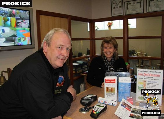 Mr and Mrs Ross at the Fitness centre