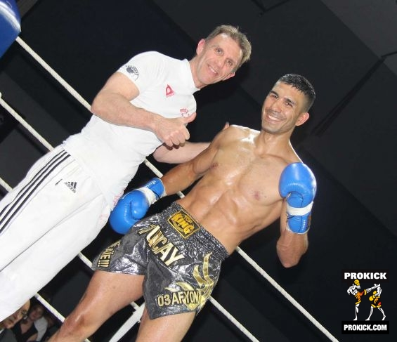 Didier and fighter in Geneva kickboxing