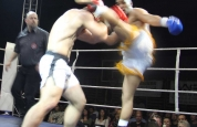 Wamba high kick at kickboxing Geneva