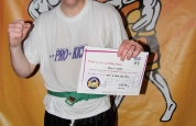 Adam Livingstone new kickboxing ProKick blue belt