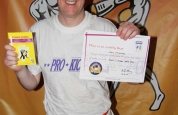 Chris McCartney new kickboxing ProKick green belt