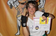 Maggie McCormick new kickboxing ProKick blue belt