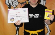 Nigel Gilespie new kickboxing ProKick Orange belt