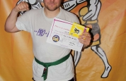 Paul Ricketts new kickboxing ProKick blue belt