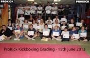 Prokick kickboxing grading new belters 15th June 2013