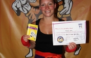Rowena Bolt-new kickboxing ProKick green belt