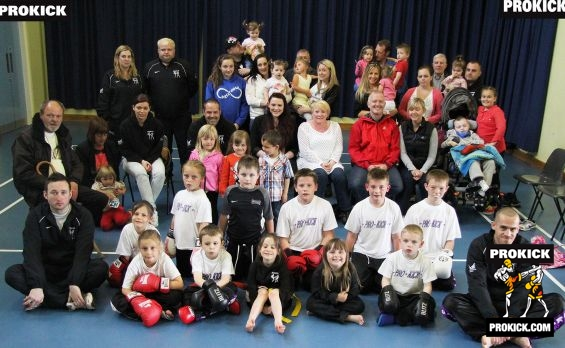 Portavogie Kids Group shot after kickboxing demo