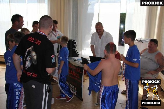 English Kickboxing Kids weigh-in for WMAG