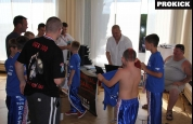 English kickboxers weigh-in for World Games