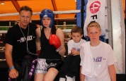 Ursula Agnew before her Boxing tournament in Geneva