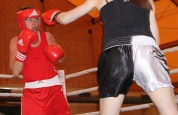 Ursula boxing action in Geneva