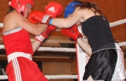 Ursula Agnew lands punch at boxing event