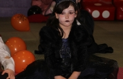Cara Colivin sitting still at the halloween special