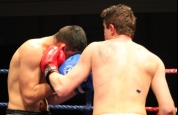 Alex Cioici lands a nice left-hook on Spiteri