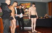 Johnny Smith face-off with Nunzio Zambataro at weigh-ins
