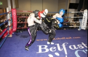 Spinning back kick by Malachy Mc Donnell in a Demo bout Belfast