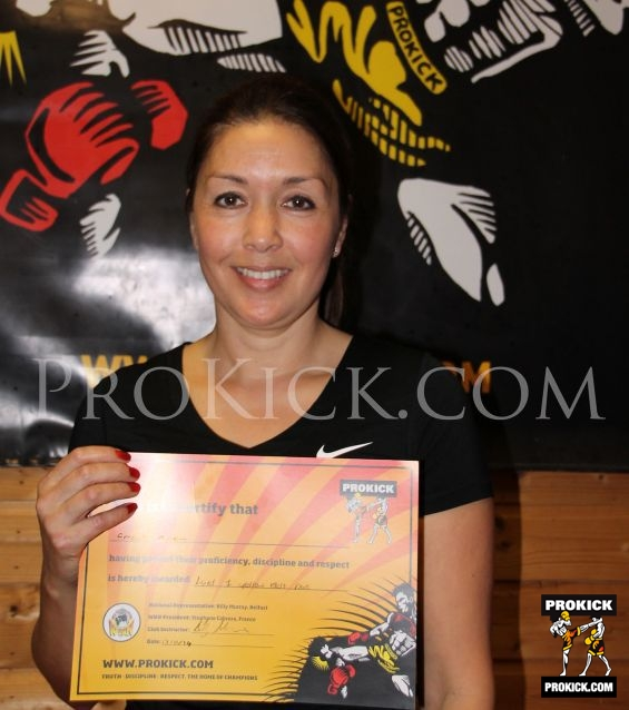 Amanda Garrett is New proKick yellow belt