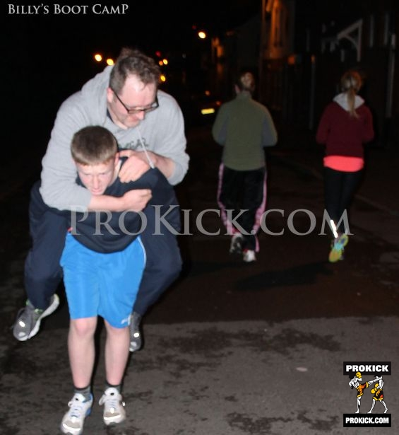 Piggy Back Fitnes in Belfast ProKick bootcamp