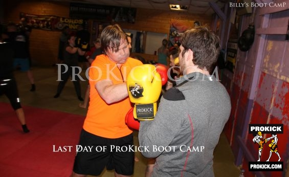 Boxing drills at Billy's Boot-Camp