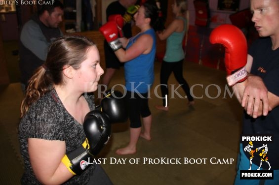One arm Kickboxer at Bootcamp