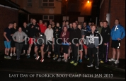 Boot Camp Team outside training at ProKick