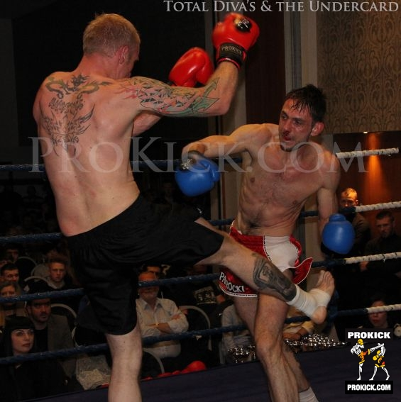 McMullan under pressure he takes a few punches