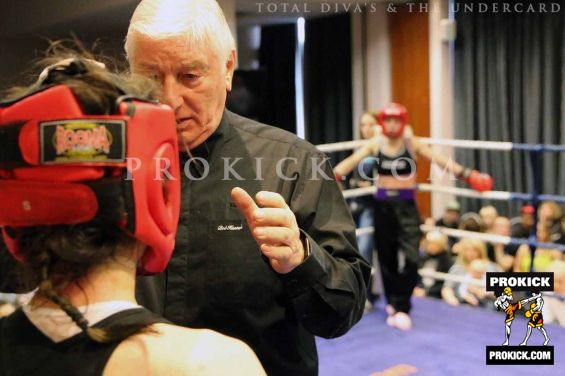 Referee counting out Ceara O'Toole as Rowena  Prepares for wins