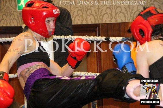 Rowena in kicking action