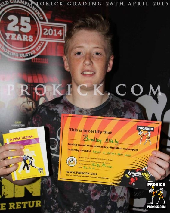 Bradley allely new prokick yellow belt