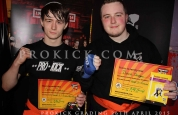 Cameron Dickson and David dougan new green belts