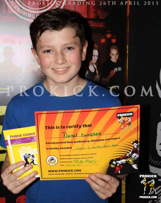 Donal campbell new prokick yellow belt