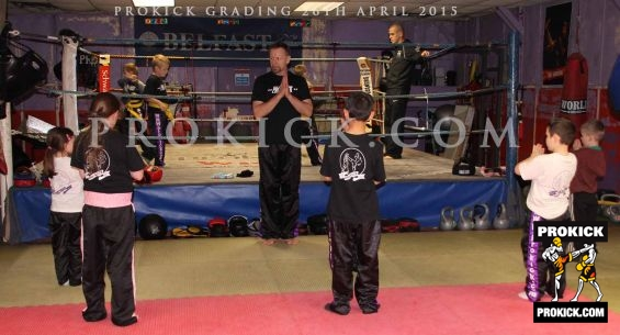 Prokick kids Showing respect to Head coach Billy Murray