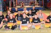 New ProKick Orange Belts pictured with Instructors