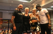 Fighters with sponsor coach