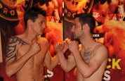 Michael Swann vs James Cox - at the weigh-ins