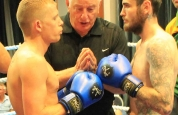 Mikey Shields ready with James Dumphy