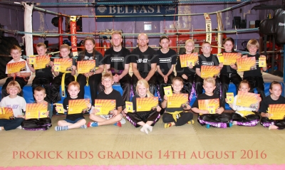 Kids grading at ProKick