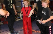 Kids first time kickboxing in ring