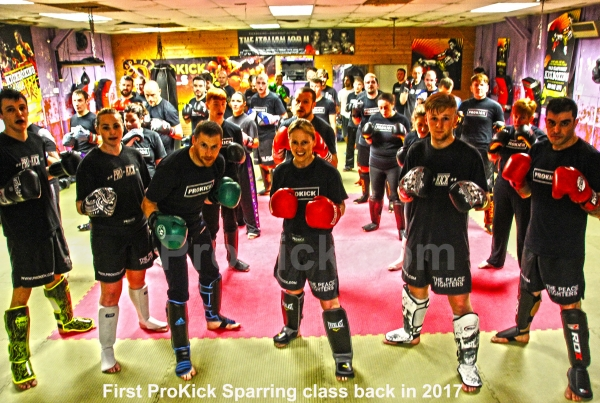 First sparring class at to ProKick in 2017