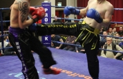 Cathal Dunne lands a right front kick
