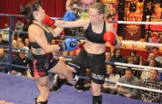 Cathy McAleer lands punch