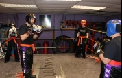 Getting ready for sparring
