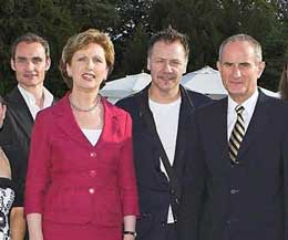 The Irish President Mary McAleese sent a personal message of support to the launch - The President,  pictured here in Dublin when the world of kickboxing were invited