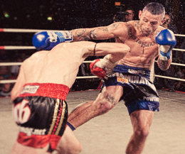 Famous Australian fighter Rob 'Axe Kick' Powdrill lost out in his bout for WKN World Title against French fighter Tavares